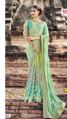 Light Green Toned Saree